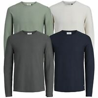 Mens Jumper JACK & JONES Rick Light Flat Knit Crew Neck Pullover Sweater
