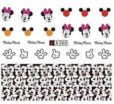 Mickey Mouse And Minnie Mouse nail Art (water decals)  Mickey Mouse Nail wraps!