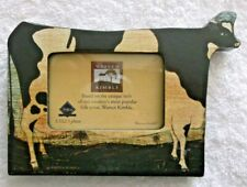 Warren Kimble Photo Frame - American Cow - by Fetco - 3.5x2.5 Photo - Pre-owned