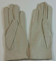 Fownes Cream color Deerskin Women's size 7 gloves small sticky spot on left one