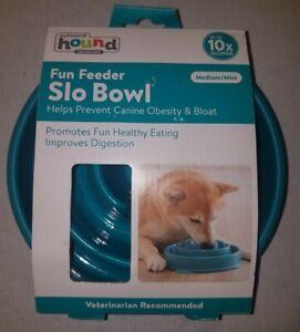 Outward Hound Fun Dog Feeder Slo Bowl Teal medium mini fun feeder non slip new