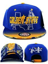 0169fde5c Golden State New Leader Skyline Bridge 3 Warriors Blue Gold Era Snapback Hat  Cap