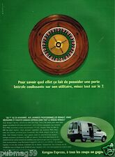 Publicité Advertising 1997 Renault Kangoo Express