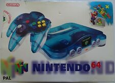 NINTENDO 64 - CRYSTAL BLUE AND WHITE - NEUF - NEW
