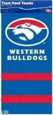 Western Bulldogs Footscray AFL Pack of 2 Large Hand Bar Towel 72 x 33 cm NEW