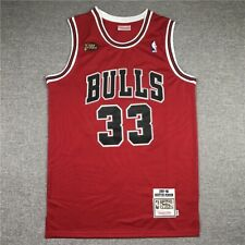 Mitchell & Ness Authentic Nba Finals Chicago Bulls Scottie Pippen #33 Jersey Red
