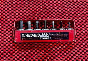 "Mac Tools 7-Piece 3/8"" Drive Standard SAE Hex Bit Socket Set 3/8-1/8- With Case"