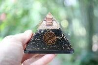 Karelia Shungite Orgone Pyramid 75mm LG 3in MOST Powerful EMF & 5G Protection