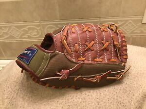 "McGraw Grabber  11"" Green Brown Youth Baseball Softball Glove Right Hand Throw"