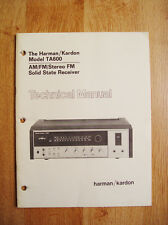 Harman Kardon TA600 Technical Manual