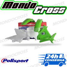 Kit plastiche cross mx POLISPORT Verde Bianco KAWASAKI KX 250 1998 (98)!