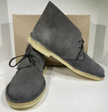 Clarks Desert Boot Men's Size 13 M Slate Gray Suede Ankle High Shoes X4-1599