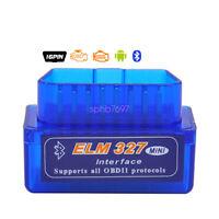 for Android OBDll OBD2 ELM327 MiNi Car Auto Diagnostic Scanner Adapter Reader