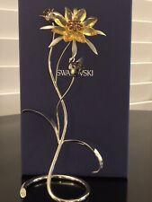 New ListingSwarovski Crystal Figurine Darigold Flower Light Topaz-Retired-No Box Included