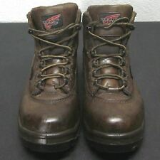 RED WING 2327 WOMEN'S SIZE 6.5D BROWN LACE UP ANKLE BOOTS STEEL TOE WATERPROOF