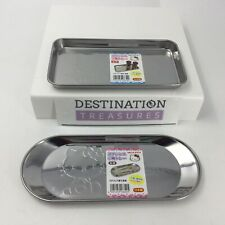 Hello Kitty Set of 2 Metal Small Trays for Kitchen or Bathroom New