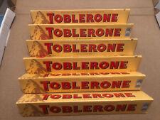 Toblerone Milk 100g X 6 Bars Long Date Original Swiss Honey,almond,nougat Bar