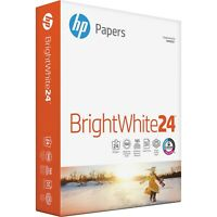 Hp Bright White Inkjet Paper 97 Brightness 24lb 8-1/2 x 11 500 Sheets/Ream