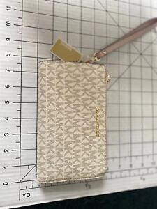 Michael Kors Women Jet Set Travel Large Double Zip Phone MK Wristlet Wallet