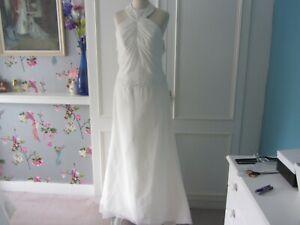 Destination wedding dress. art deco style. ivory chiffon with crystal bead 12