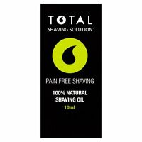 TOTAL SHAVING MENS WOMENS NATURAL SHAVING OIL INGROWN HAIRS BUMPS RASH NICKS TSS