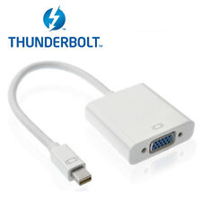 Thunderbolt to VGA Cable Adapter - 100% REAL Thunderbolt,Compatible w/ Mini DP