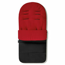 Premium Footmuff / Cosy Toes Compatible with Bugaboo Donkey Twin - Fire Red