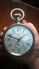 Riesige Longines für Tiffany 79mm GOLIATH vergoldet Heavy serviced pocket watch New York