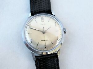 Vintage 1966 TIMEX Marlin, serviced, champagne sunburst dial with chrome hands