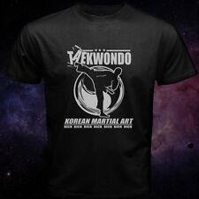 Taekwondo Tae Kwon-Do Korean Martial Arts Kick Black MMA Fighting Men T-Shirt
