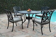 NEW Perris Collection Cast Aluminum Outdoor Patio Furniture 5 Peice Dining Set G