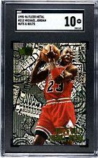 Michael Jordan 1995-96 Fleer Metal #212 SGC 10 GEM MINT graded card Chicago Bull