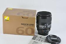 Nikon AF Micro Nikkor 60mm F2.8 D Macro Prime Lens made in Japan uk seller boxed