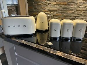 Smeg Cream Kettle, Toaster And Canisters