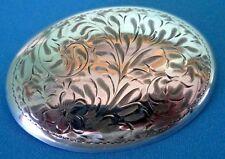 & Screw Back Earrings Set 1930s Birks Art Deco Sterling Silver Large Brooch