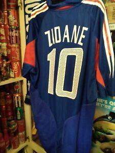 LOT RARE jersey SHIRT soccer football men XL Zidane #10 France adidas REAL 2004