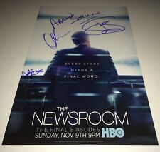 Jeff Daniels NEWSROOM Cast X4 Signed 11 X 17 Photo In Person Autograph PROOF