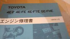 TOYOTA SERA / STARLET - ENGINE MANUAL BOOK - 4E/4EFE-4EFTE-5E/5EFHE- VERY RARE