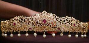 Bollywood Style Indian CZ AD Bridal Kamar Bandh South Waist Belt Wedding Jewelry