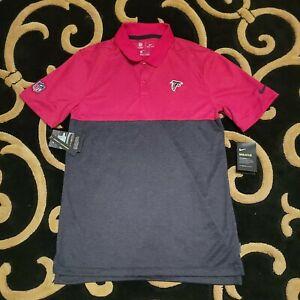NEW $75 Atlanta Falcons Nike Men's Dri-Fit Polo Dress Shirt Size Sm Red Black