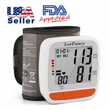 Automatic Wrist Blood Pressure Monitor Heart Rate BP Meter Tester Large LCD US