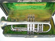 Conn Victor Cornet Trumpet from 1922 Opera Glass Tuner With Case & Mouthpiece!