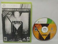 Metro Last Light Limited Edition Game - Microsoft Xbox 360 Rare Tested Works