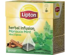 Lipton Morocco Mint & Spices 3 x 20 Pyramid Tea Bags Flavoured Herbal Infusion