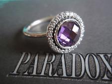 Authentic PANDORA Sterling Silver 925 Amethyst CZ Brilliant Legacy Ring Sz 7 /54