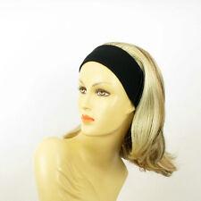 turban chimio avec bandeau blond clair méché cuivré clair ref XENA en 15613h4