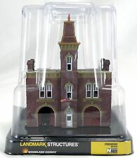 N Scale Firehouse Landmark Structure - Woodland Scenics #BR4934