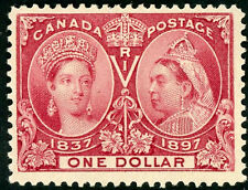 CANADA   #61 ~ Mint HInged Issue ~  $1  Jubilee  ~  S3706