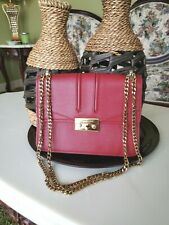 Charles & Keith Red Leather Hand Bag Purse Trendy Fashion Casual Formal