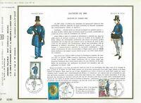 Foglio CEF 1er Giorno Francia Fattori IN 1830 Giorno Francobolli 1968